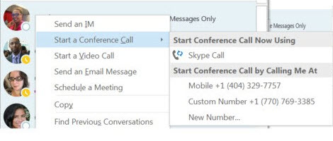 can you conference call on skype